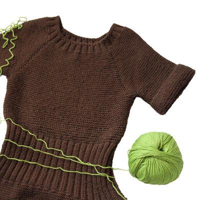 miniabito in maglia legaccio