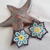 Orecchini Emy realizzati in tessitura peyote