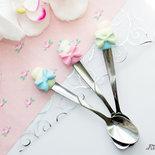 Cucchiaino con Cupcake in pasta polimerica fimo - Polymer clay