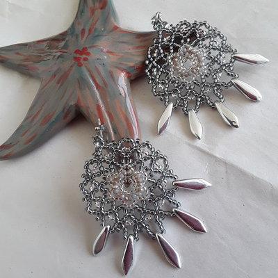 Orecchini Fenke realizzati a peyote