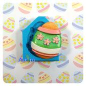 Stampo in silicone Uovo Pasqua Big 4,9x4,1cm decorazione fiori