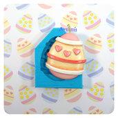 Stampo in silicone Uovo Pasqua Big 4,9x4,2cm decorazione cuori