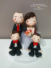 Cake topper sposi in porcellana fredda