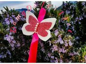 Portachiavi farfalla glitter