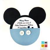 Invito Baby  Topolino Mickey Mouse fatto a mano