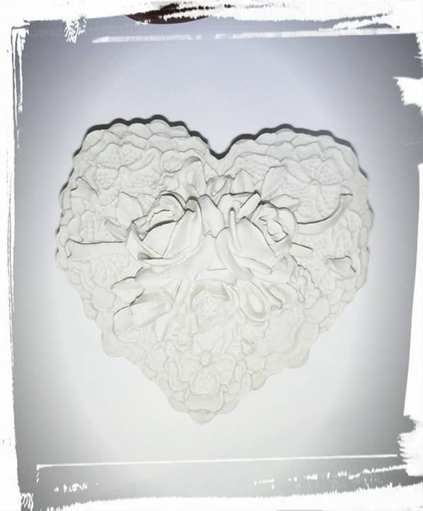 gessetti profumati cuore con rose