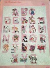 Alfabeto Rosa - Kit Punto Croce Les Bonheur des Dames