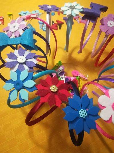Cerchietti primaverili e  colorati
