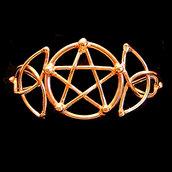 Bracciale in bronzo Pentacolo