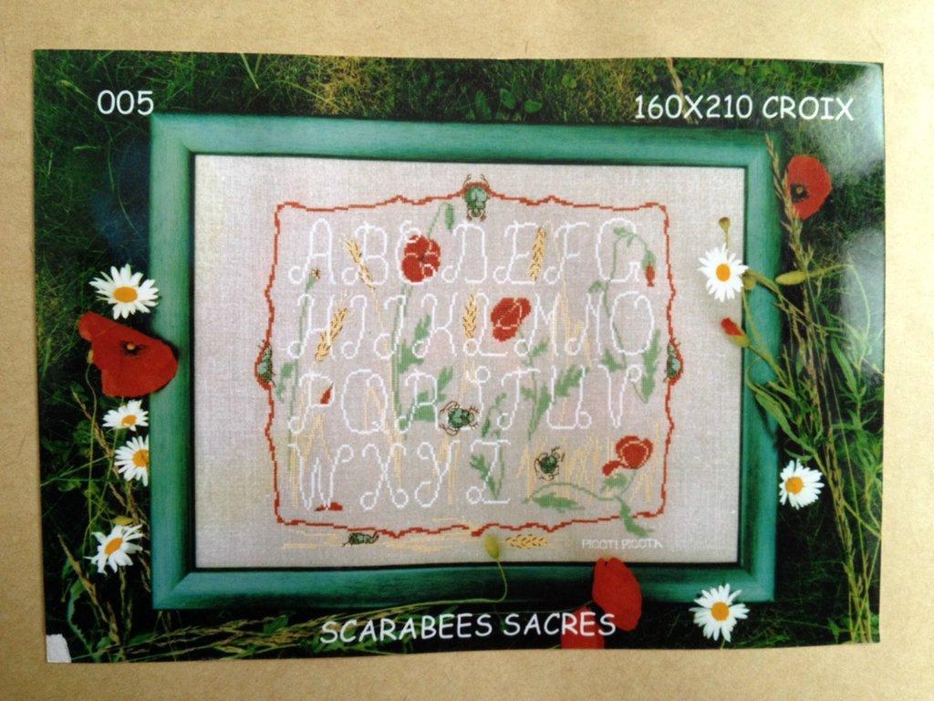 Alfabeto Scarabees Sacres - Kit Punto Croce Picoti Picota