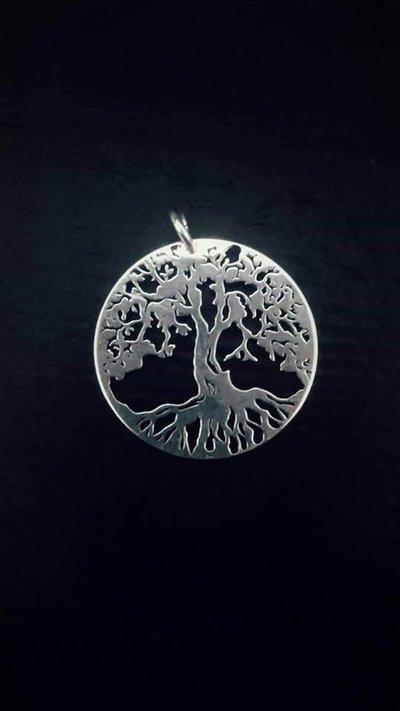 albero della vita CHARM ciondolo in argento925 grande 2,5CM