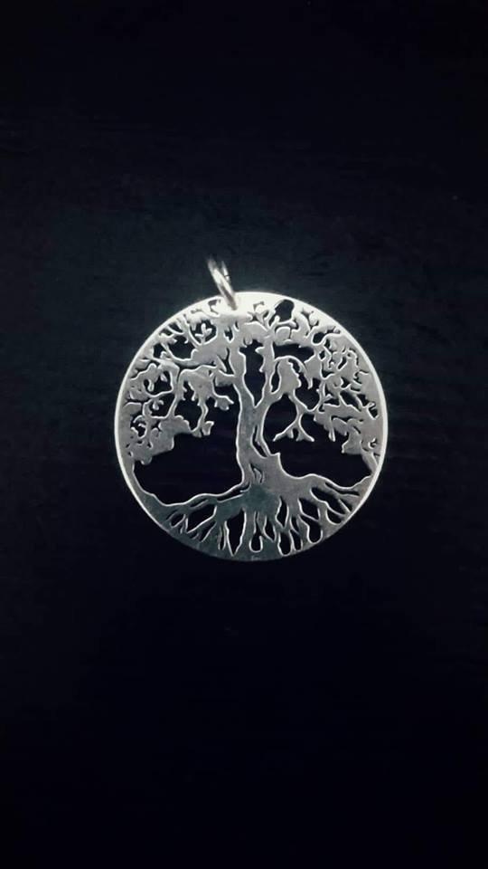 CHARM albero della vita in argento925 grande 1,8CM
