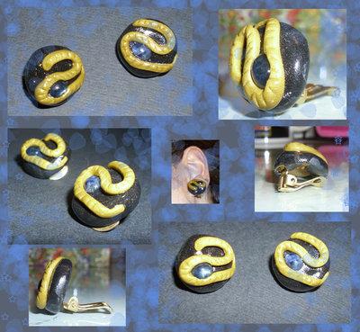 orecchini clips in cernit