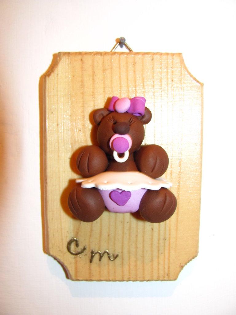 quadretto nascita con orsetta