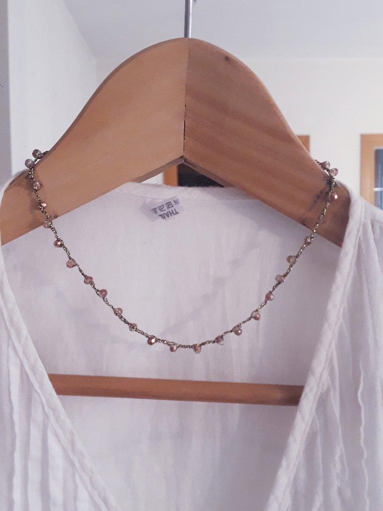 Collana girocollo choker stile rosario bohemian handmade