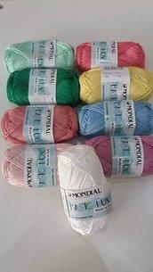 Gomitoli cotone colorato basic lux