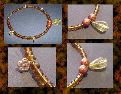 Bracciale gold con perline