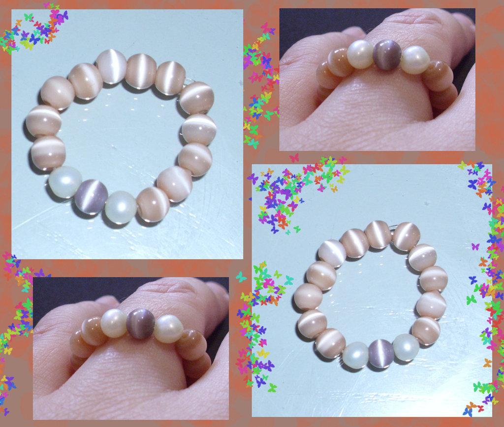 anello perline elastico