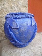 vaso decorativo in cartapesta,pezzo unico,riciclo carta