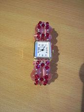 Orologio swarovski rosa e fucsia