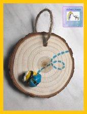 Quadretto legno con ape 🐝