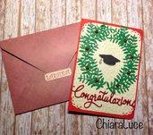 Card Laurea con corona d'alloro