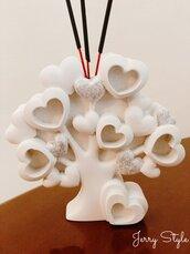 Bomboniera albero della vita con cuori profumatore matrimonio battesimo compleanno anniversario