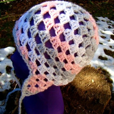 Happy Candy crochet hat