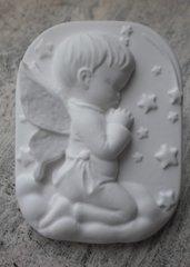 Gessetto angelo che prega ,nascita, battesimo bimbo