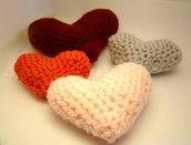 Amigurumi Lavander Hearts