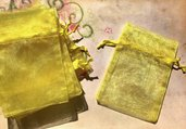 35 sacchetti sacchettini organza - giallo - 8 x 7,5 cm  offerta