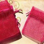 14 sacchetti sacchettini organza - fucsia - 8 x 7,5 cm  offerta