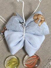 Bomboniera  farfalla di stoffa, bomboniera per battesimo, farfalla profumata