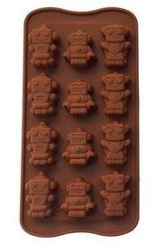 Stampo in Silicone a forma di Robot - Gessi - Fondente - Decorazione Torte - Cioccolato - Sapone - Resina