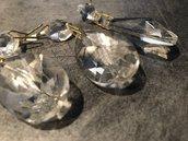 Gocce, ricambi per lampadari in vetro, trasparenti