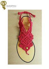 Sandali infradito macrame rossi Passion (taglia 39)