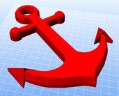 File STL per stampa 3D Ancora in rilievo arte marinaresca download digitale