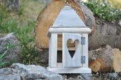 Lanterna in legno invecchiato