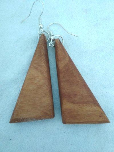 Orecchini in legno di pero