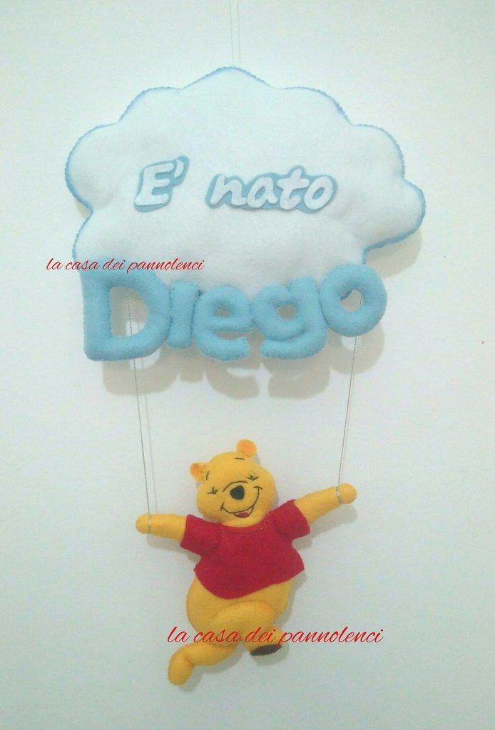 Fiocco nascita Winnie the pooh