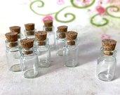 50 pz BOCCETTE boccetta bottiglietta con tappo di sughero 10x18 mm occasione