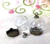 6 set AMPOLLA boccetta sfera set bronzato base + gancio - occasione