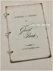 Matrimonio 2019: Libro dediche - Guestbook - Album ricordi con copertine in legno personalizzate.