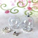 11 set AMPOLLA boccetta sfera set silver base + gancio - occasione