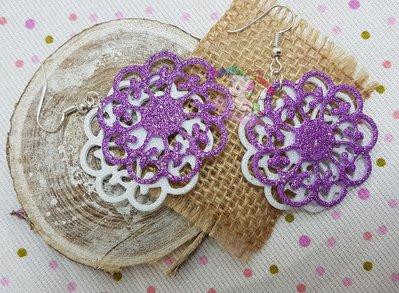 orecchini fiore in gomma crepla