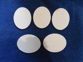 Set 5 ovali in legno grezzo di betulla 7,5 cm x 9,5 cm x 6 mm di spessore