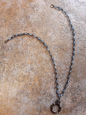 Collanina wire con pendaglio circolare
