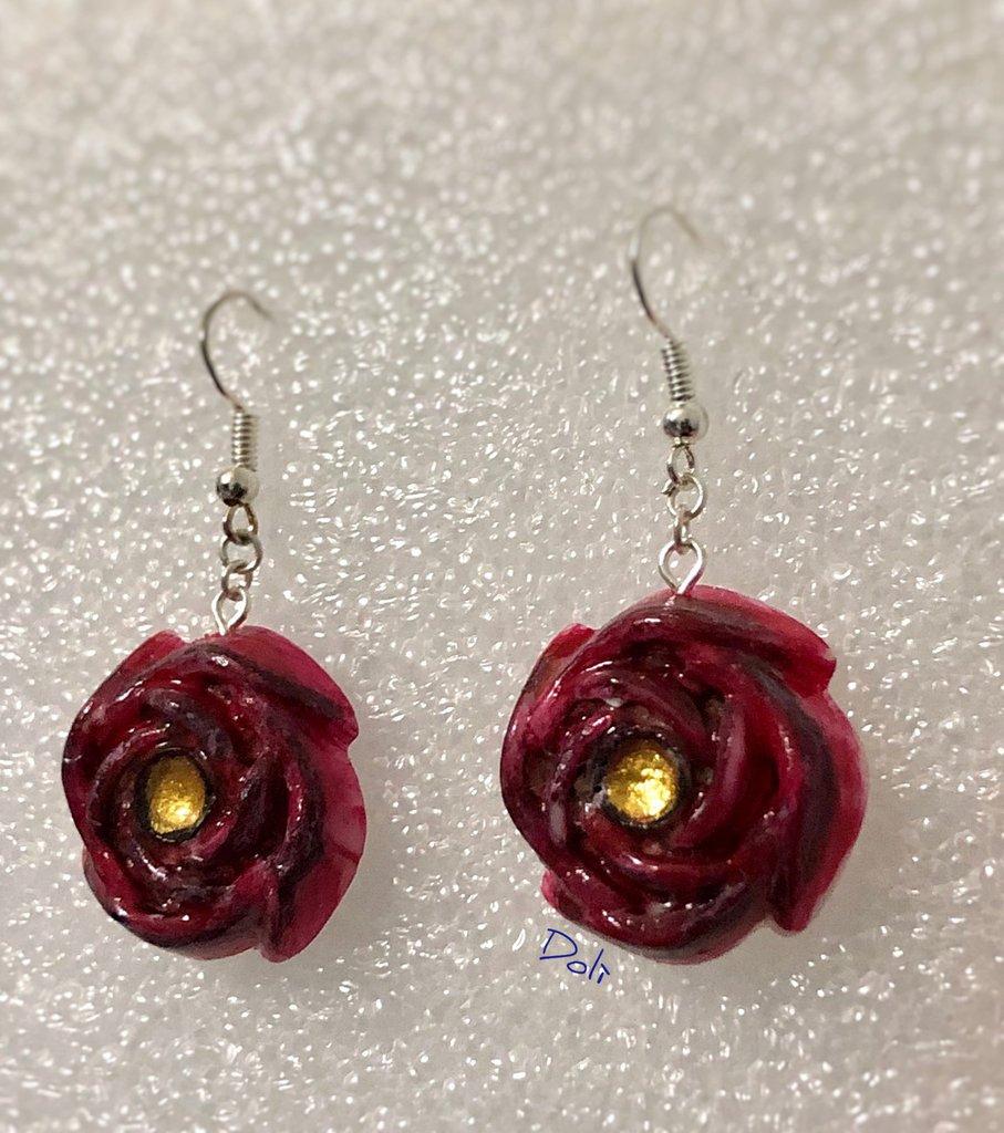 Orecchini - Rose antiche