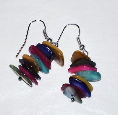 Orecchini pietre colorate