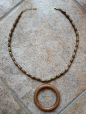 "Collana ""wood circle"""